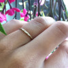 Ethical Diamond Baguette Dainty Wedding Band