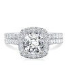 Laura Preshong Ethical Engagement Ring - Molly Ethical Diamond Cushion Cut Diamond Halo Ring