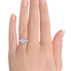 Ethical Engagement Ring Beaded Halo Four Prong Solitaire