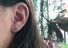 Ethical Gemstone Hexagon and Aquamarine Post Earrings