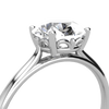 Ethical Engagement Ring Fleur De Lys Solitaire