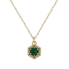 Loie Petite 14KY Emerald Necklace