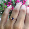 Iolite and Diamond Stacking Ring