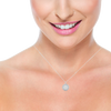 Bailey Petite 14K Rose Gold Diamond Necklace