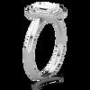Tess Emerald Cut Micro Halo Ring