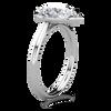 Tess Pear Cut Micro Halo Ring