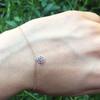 Loie 14KW Rhodalite Garnet Bracelet