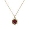 Loie 14K Yellow Gold Rhodalite Garnet Necklace