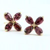 Ethical Gemstone Pear Cut Flower Earrings