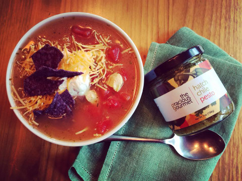 Recipe: Hatch Chile Chicken Tortilla Soup