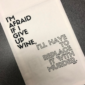 Wine/Murder Towel