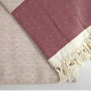 Burgundy Tacking  XL Turkish Blanket
