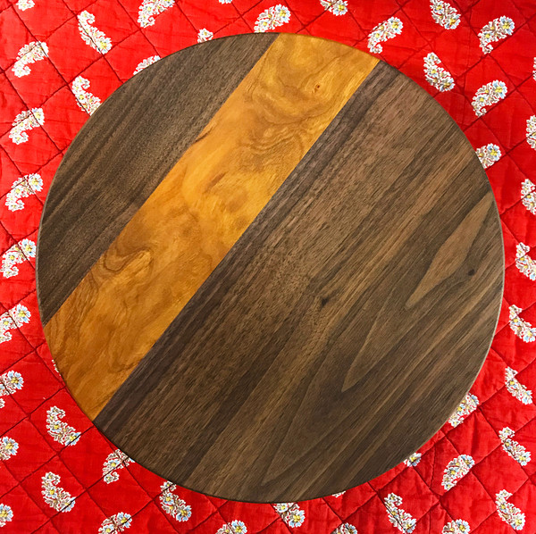 Round Cake Stand - Walnut + Cherry
