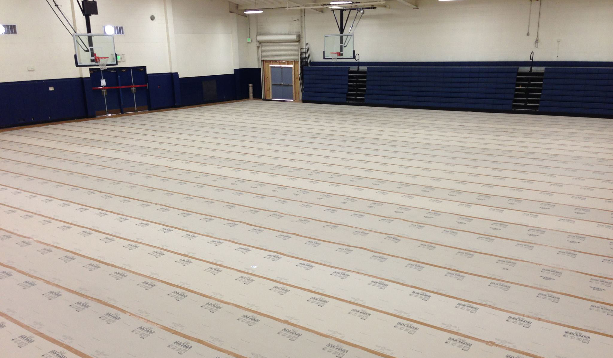 Protect A Sports Or Gym Hall Flooring