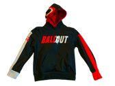 """Ball Out"" Hooded Jacket (Black and Red) Adult Sizes"