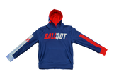 """Ball Out"" Hooded Jacket (Navy Blue and Red) Adult Sizes"