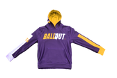 """Ball Out"" Hooded Jacket (Purple and Yellow) Adult Sizes"