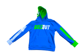 """Ball Out"" Hooded Jacket (Royal Blue and Neon Green) Adult Sizes"