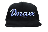 "Signature ""Dmaxx Sports"" Logo Snap Back - Black with White Embroidery"