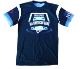 Dmaxx All American Game - Moisture Wicking Tee - Black with USA Flag - Adult