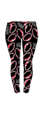 Football Love Leggings - red, black, white - Free Matching Headband with order