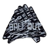 """Ball Out"" Football Gloves- Black with White print ""SUPER STICKY"""