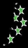"Black, Neon Green ""Super Star ""Compression Sleeve"