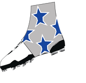 "Silver, Royal Blue ""Super Star"" Spats( cleat covers)"