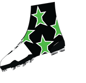 "Black, Neon Green ""Super Star"" Spats( cleat covers)"