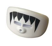 White Lip Shield Mouth Guard with Black Fangs