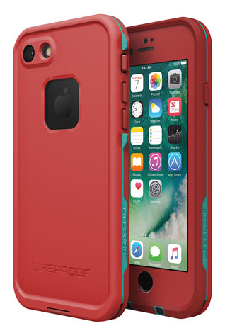 LifeProof FRE Case iPhone 7 - Race Red/Flame Red/Light Teal