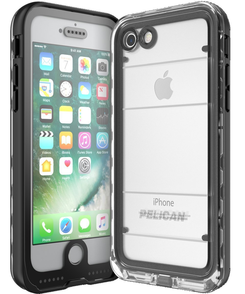 Pelican MARINE Case iPhone 7 - Black/Clear