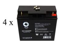 Deltec PRA 2000  4 x 12V18Ah  Compatible UPS Battery set