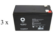 High capacity battery set for Exide Powerware PW5119 1500