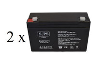 Elpower EP6100 Emergency light 6V 12Ah - 2 pack