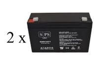 light alarms 2DSGC3V 6V 12Ah - 2 pack