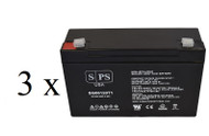 Dual-Lite 0120727 6V 12Ah - 3 pack