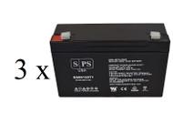 light alarms 2DSGC3V - - CHK DIM 6V 12Ah - 3 pack