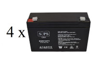 Emergi-Lite 12-JSM-9 6V 12Ah - 4 pack