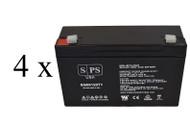 Power-Sonic PS-6100 6V 12Ah - 4 pack