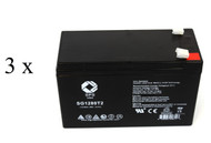 UB1280 Exide Powerware PW5119 1500 UPS battery set - 14% more capacity