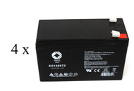 Zapotek RX 510N UPS battery set set 14% more capacity