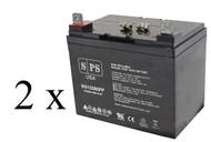 Panasonic LCL12V33P 12V 35Ah scooter battery set