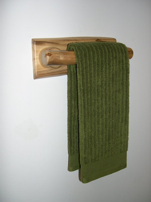 Log Hand Towel Rack 11-inches (Clear Finish)