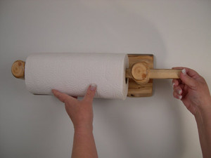 Log Paper Towel Holder Wall Mounted (Clear Finish)