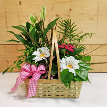 Pink Country Garden Basket  SCF9500