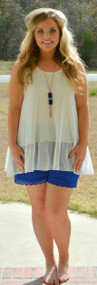 A World Away Short - Royal Blue***FINAL SALE***