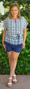 Walk With Me Short - Navy***FINAL SALE***