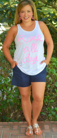A Step Above The Rest Short - Navy***FINAL SALE***