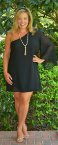 Never Forget You Dress / Tunic - Black